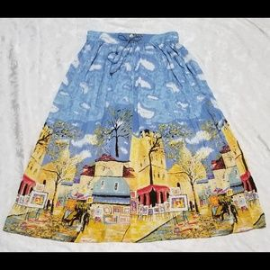 Beautiful Unique Artsy A Line Skirt